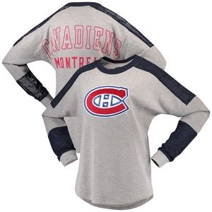 Montreal Canadiens Pullover Mesh Long Sleeve Top